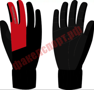 Перчатки Nordski Motion Black/Red WS NSV250190